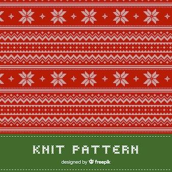 Collection de modèles de noël tricotés colorés
