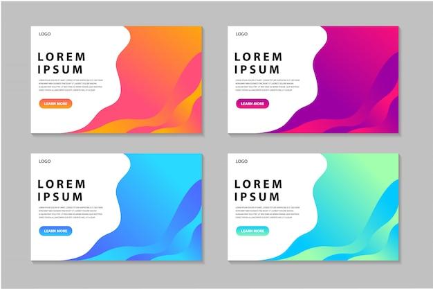 Collection de modèles de pages de destination colorées