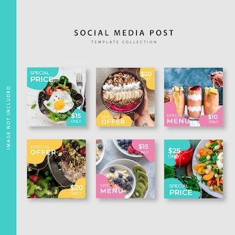 Collection de modèles de post instagram culinaires