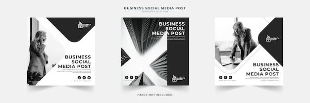 Collection de modèles de publication de médias sociaux d'entreprise
