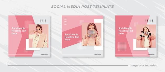 Collection de modèles de publication de médias sociaux minimalis instagram fashion
