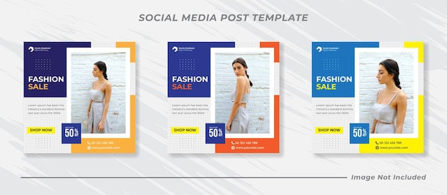 Collection de modèles de publication de médias sociaux minimalistes