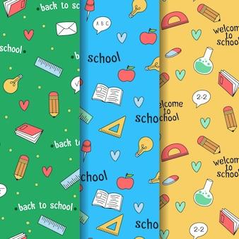 Collection de modèles de retour à l'école