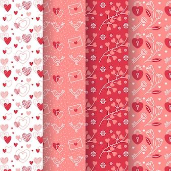 Collection de modèles de saint valentin au design plat