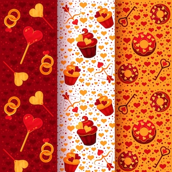 Collection de modèles de saint valentin au design plat