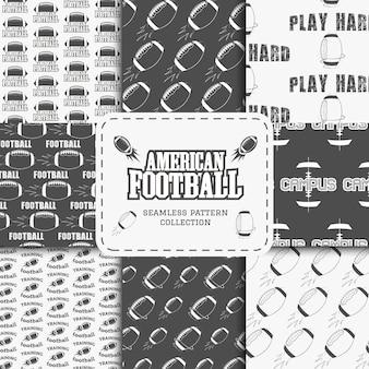 Collection de modèles sans couture de football américain