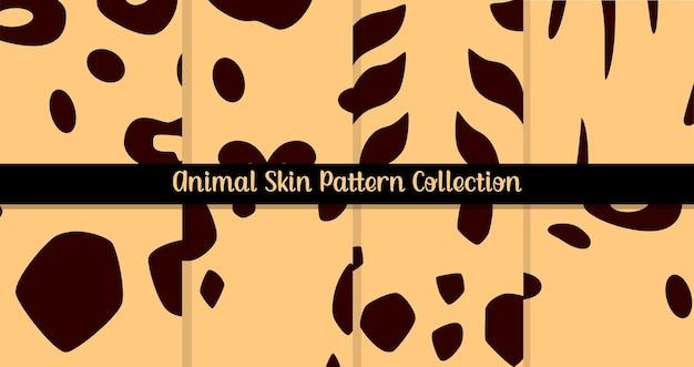 Collection de modèles sans couture de peau d'animal