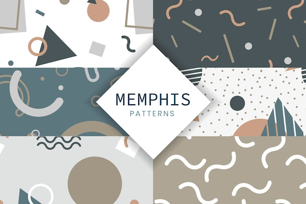 Collection de modèles de style memphis