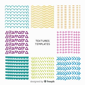 Collection De Modèles De Texture Dessinés à La Main Vecteur gratuit