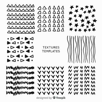 Collection de modèles de texture dessinés à la main