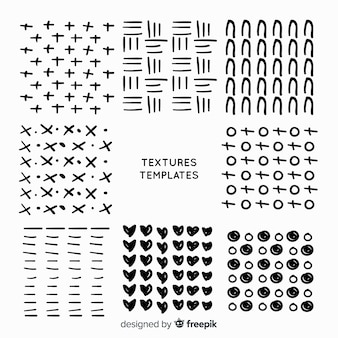 Collection de modèles de texture dessinés à la main