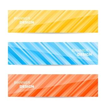 Collection de modèles web de bannière de conception abstraite
