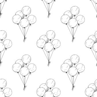 Collection monochrome de modèle sans couture de ballons