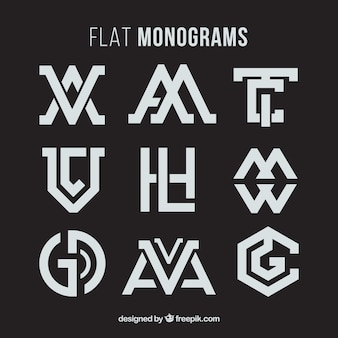 Collection de monogramme abstrait
