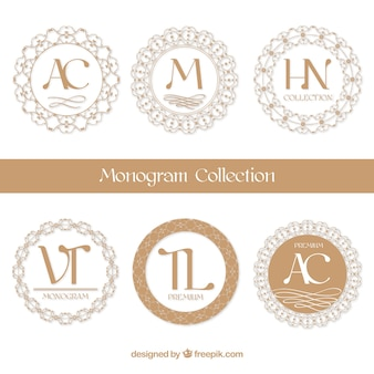 Collection de monogramme circulaire