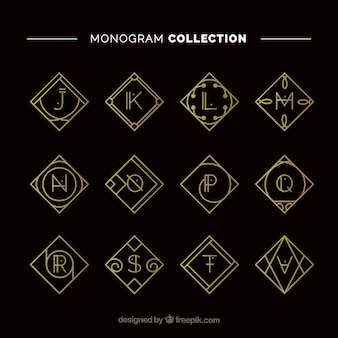 Collection de monogramme d'or