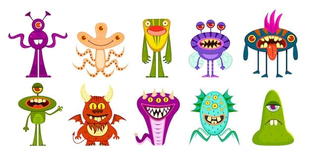 Collection de monstres de dessins animés