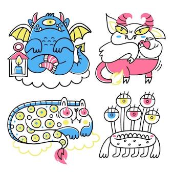 Collection de monstres fantastiques