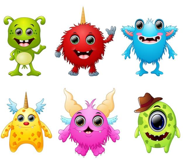 Collection de monstres halloween