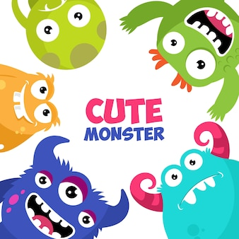 Collection de monstres mignons