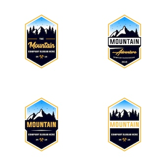 Collection de montagne logo en plein air