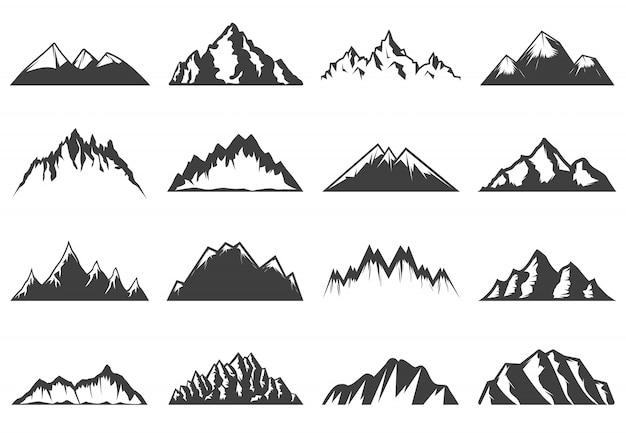 Collection de montagnes vintage