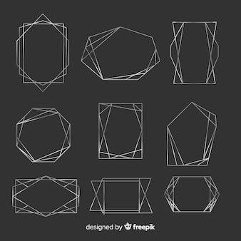 Collection de montures géométriques en argent