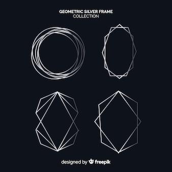 Collection de montures géométriques argentées