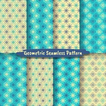 Collection de motif géométrique sans couture, conception graphique hexagonale géométrique abstraite
