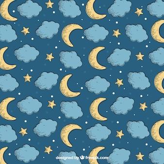 Collection de motif de lune