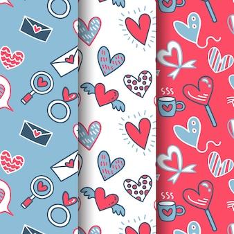 Collection de motif de la saint-valentin