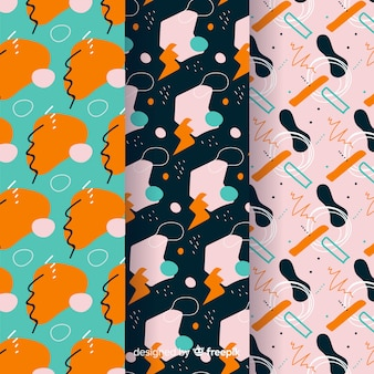 Collection de motifs abstraits dessinés à la main