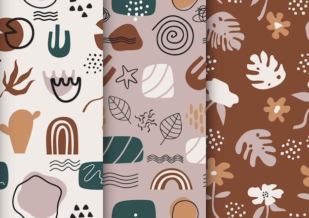Collection de motifs abstraits dessinés.