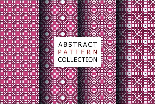 Collection de motifs abstraits de luxe avec un design ethnique