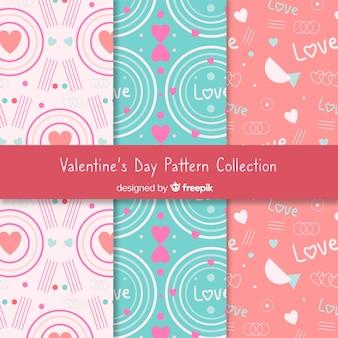 Collection de motifs abstraits de saint-valentin