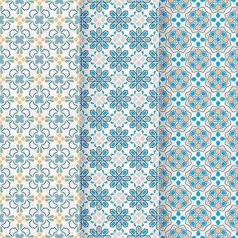Collection de motifs arabes ornementaux plats