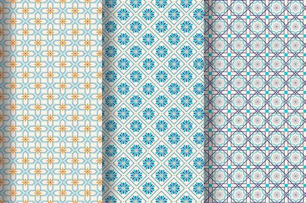 Collection de motifs arabes plats