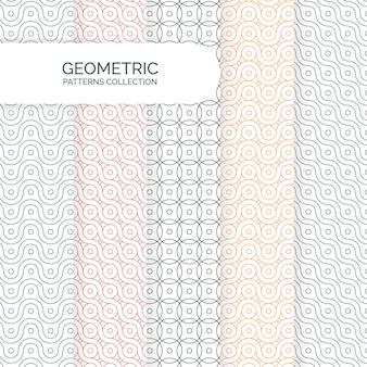 Collection de motifs d'arrière-plans géométriques modernes