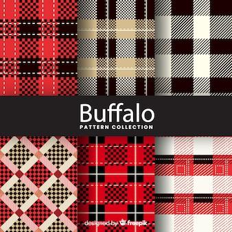 Collection de motifs artistiques de buffle