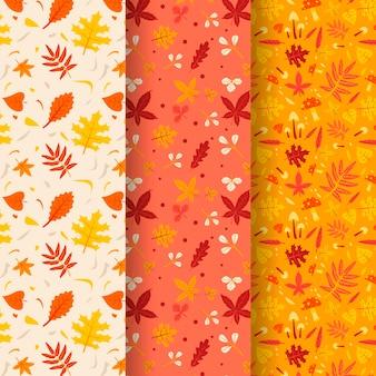 Collection de motifs automne plat