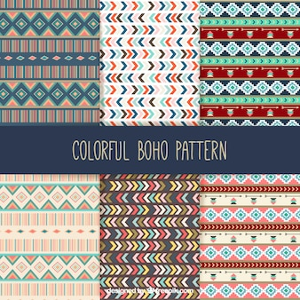 Collection de motifs boho coloré