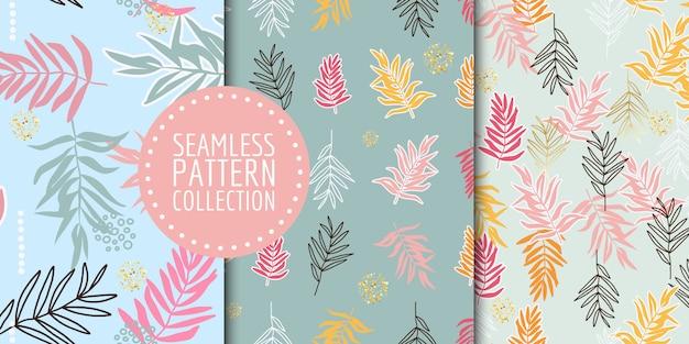 Collection de motifs botaniques sans soudure