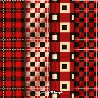Collection de motifs de buffle rouge