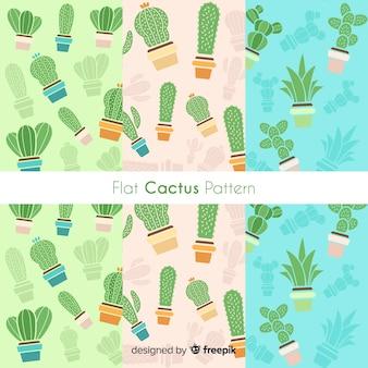 Collection de motifs de cactus