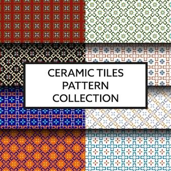 Collection de motifs de carreaux de céramique traditionnels
