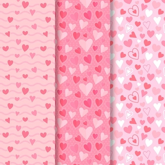 Collection de motifs coeur design plat