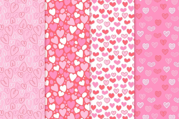 Collection de motifs coeur plat