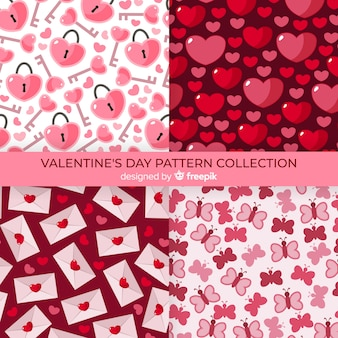 Collection de motifs de coeur valentine
