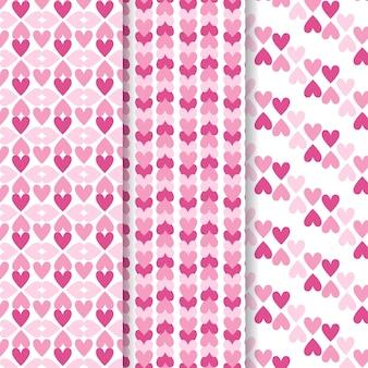 Collection de motifs de coeur