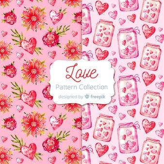 Collection de motifs coeurs saint valentin